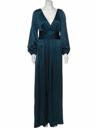 Givenchy Silk Long Dress Blue