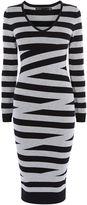 Karen Millen Crosshatch Dress - Black/multi