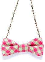 Peppercorn Kids Gingham Bow Necklace (Little Kids & Big Kids)