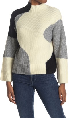 Cliche Contrasting Mock Neck Sweater
