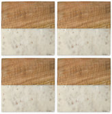 Thirstystone 4-Pc. Marble and Wood Coaster Set