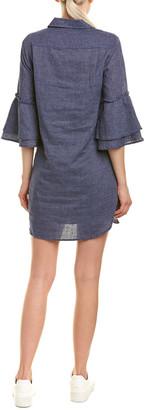 Splendid Bell-Sleeve Linen-Blend Shirtdress