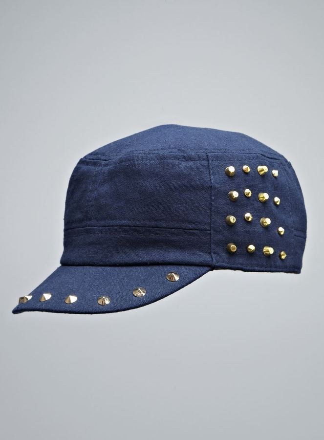 David & Young Studded Twill Cadet Hat