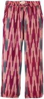 Pink Chicken Harper Pants (Toddler/Kid) - Magenta Purple Ikat-6 Years