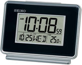 Seiko Digital Bedside Dual Alarm Clock Black Qhl068klh