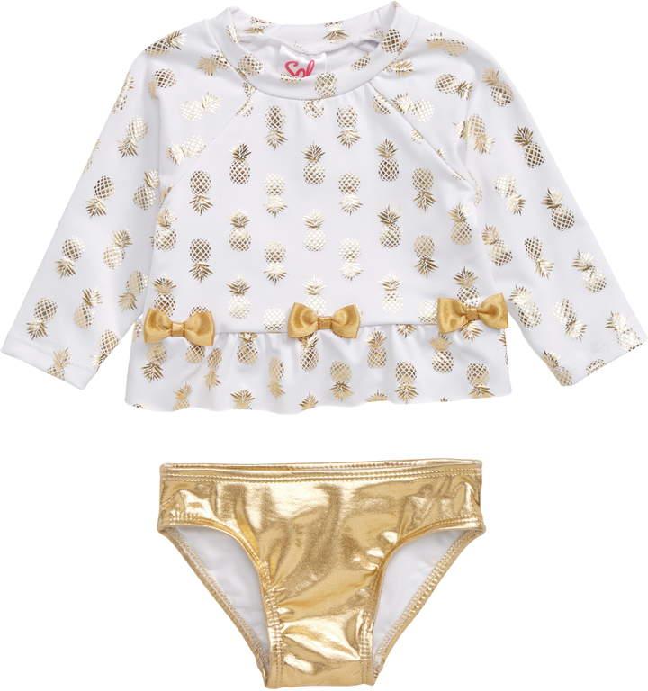 dae97b7c3b423 Girls Pineapple Swimsuit - ShopStyle