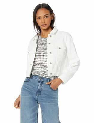 BB Dakota Womens White Noise Crop Denim Jacket