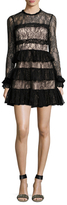 Alexis Sally Embroidered Mesh Flared Dress