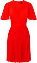 Karen Millen Laser Cut-out Dress - Red
