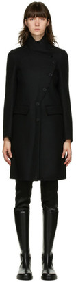Ann Demeulemeester Black Wool and Cashmere Coat