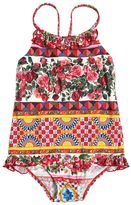 Dolce & Gabbana Mambo Print Lycra One-Piece Swimsuit
