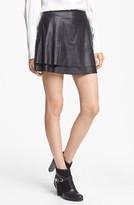 Rachel Zoe 'Venice' Lambskin Leather Miniskirt