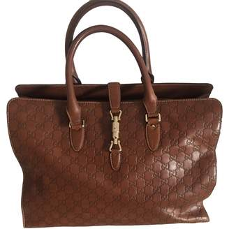 Gucci Jackie Camel Leather Handbags