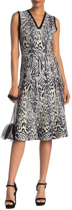 Rachel Roy Collection Leopard V-Neck Dress