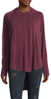 Free People Rose High-Low Shirt