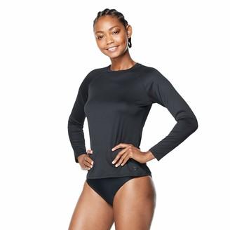 Speedo Women's Uv Swim Shirt Long Sleeve Rashguard New Black X-Large
