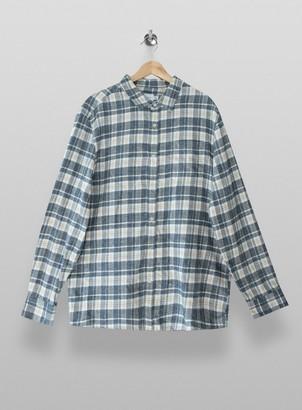 Topman BIG & TALL Grey Salt And Pepper Check Shirt*