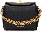 Alexander McQueen Black Leather Box 16 Bag
