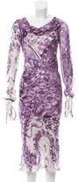 Roberto Cavalli Silk Lamé Dress