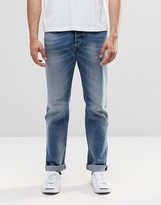 Diesel Buster Straight Jeans 853P Mid Wash