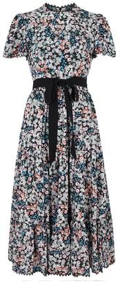 Erdem Ginevra floral-print silk midi dress