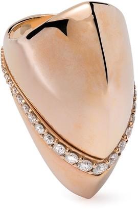 Mattia Cielo 18kt rose gold diamond Vulcano ring