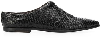 Silvano Sassetti Pointed Toe Woven Leather Slippers
