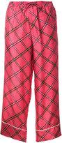 Pierre Louis Mascia Pierre-Louis Mascia embroidered cropped trousers