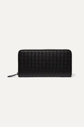 Bottega Veneta Intrecciato Leather Continental Wallet - Black