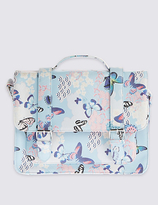 Marks and Spencer Kids' Butterfly Print Satchel Bag