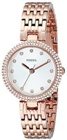 Fossil Women's ES3347 Olive Three Hand Stainless Steel Watch - Rose Gold-Tone