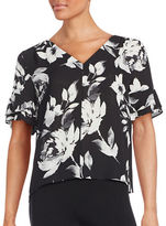 Ivanka Trump Short Sleeved Georgette Blouse