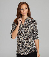 Westbound Printed Roll-Tab Blouse