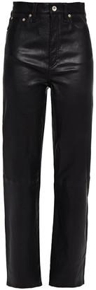 Rag & Bone Jane Leather Straight-leg Pants