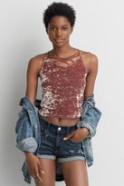 American Eagle Outfitters AE First Essentials Velvet Crop Cami