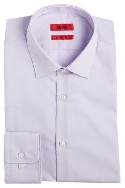 HUGO BOSS Men's Slim-Fit Light Purple Solid Dress Shirt