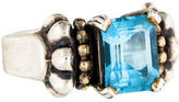 Lagos Two-Tone Blue Topaz Glacier Ring