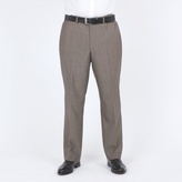 Centaur Big & Tall Taupe Mohair Look Washable Suit Trouser