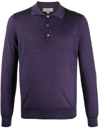 Canali long sleeved polo shirt