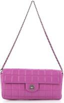 Chanel Pink Lambskin Chocolate Bar Flap Bag