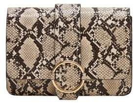MANGO Snakeskin effect bag