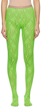 Gucci Green Lace Tights