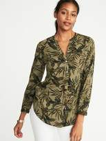 Old Navy Relaxed Twill Popover Shirt for Women