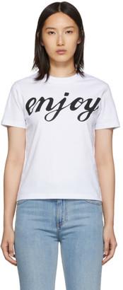 McQ White Enjoy Band T-Shirt