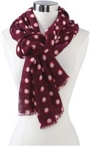 Juicy Couture Double Dot Print Oblong Scarf
