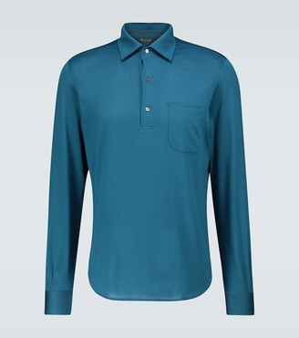 Loro Piana Andre Sea Island long-sleeved polo shirt