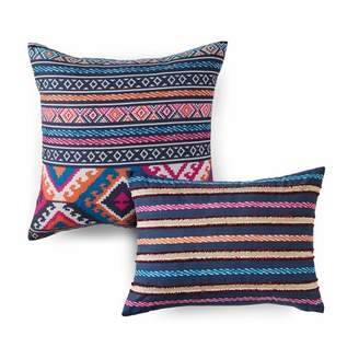 Azalea Skye 2pc Kilim Stripe Throw Pillow Set Indigo