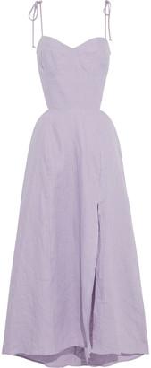 Reformation Alessa Cutout Linen Midi Dress