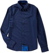 Armani Exchange Armani Jeans Slim-Fit Solid Satin Long-Sleeve Woven Shirt