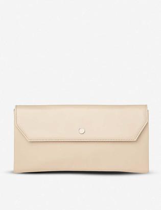 LK Bennett Dora leather clutch bag